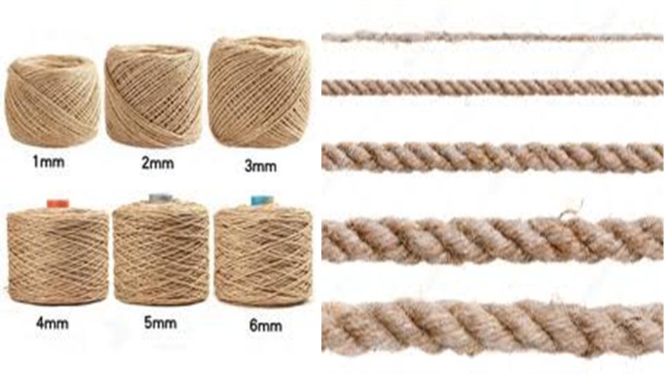tamaños de las cuerdas de yute para BONDAGE, SHIBARI O KINBAKU